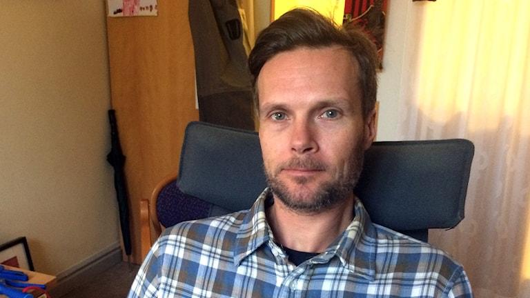 Patrik Olofsson, limnolog på länsstyrelsen.