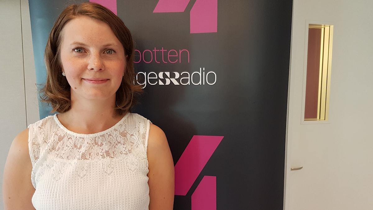 Ida Karkiainen i P4-studion.