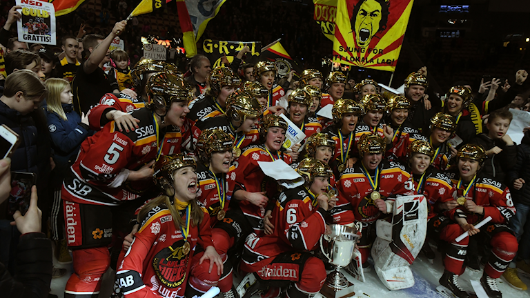 Luleå Hockey/MSSK firar SM-guldet