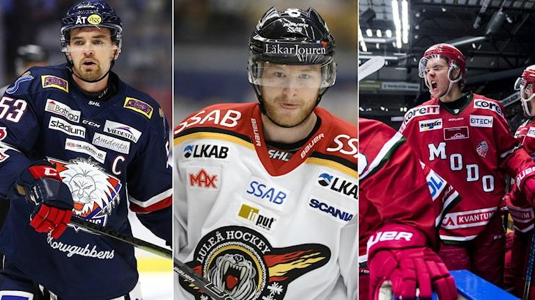 Eddie Larsson, Linus Klasen och Victor Berglund.