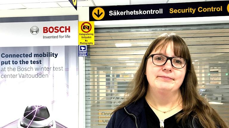 Anne Enoksson, säkerhetsansvarig Arvidsjaurs flygplats.