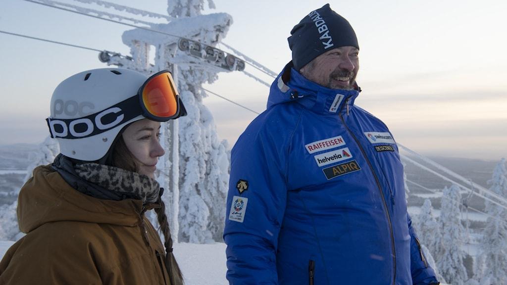 Rebecca Gunnarstedt och hennes far Johan Gunnarstedt.