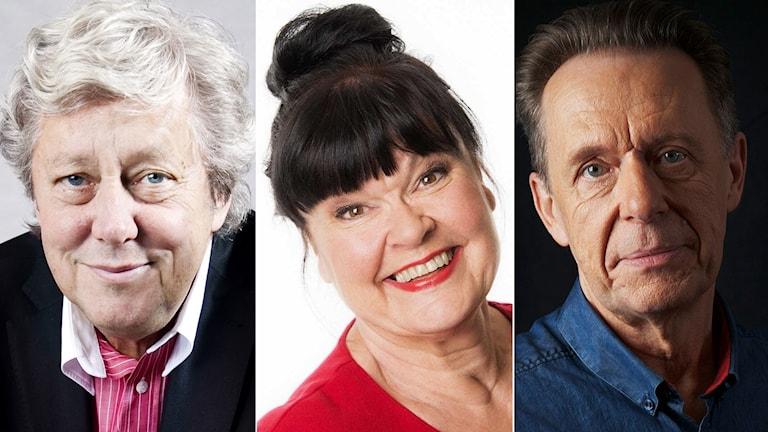 Ulf Elfving, Lisa Syrén och Kjell-Peder Johanson.