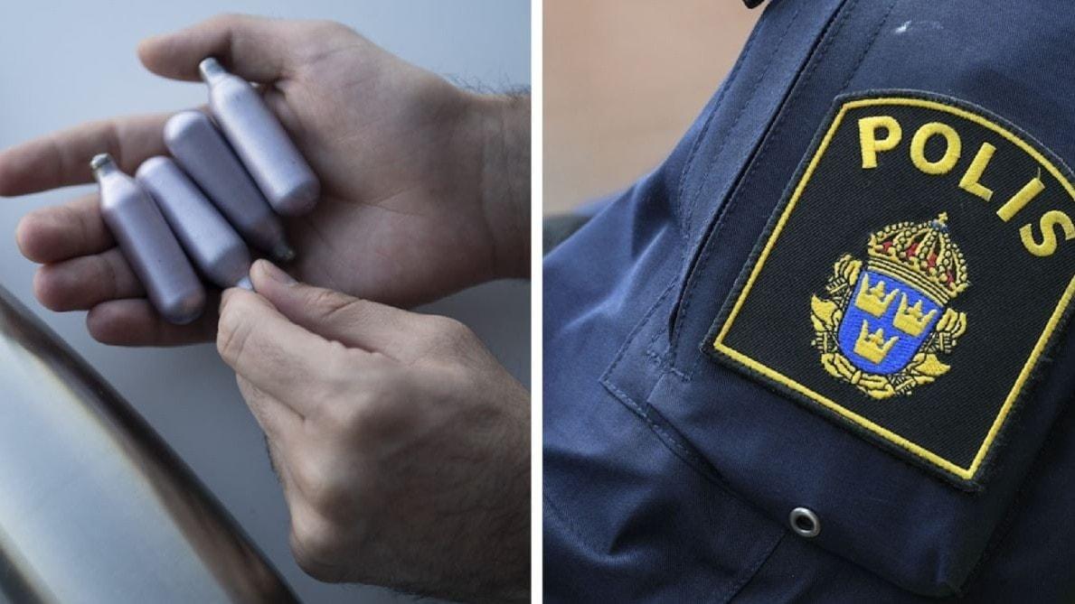 Polisen i Norrbottens varnar unga för lustgas: Kan leda till hjärnskador