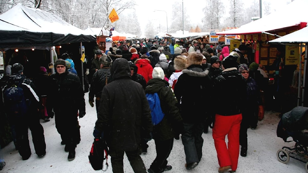 Jokkmokks marknad 2011. Foto: Joseph Knevel/Sveriges Radio.