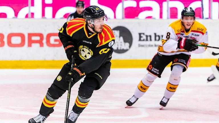 Brynäs John Persson under ishockeymatchen i SHL mellan Brynäs och Luleå.