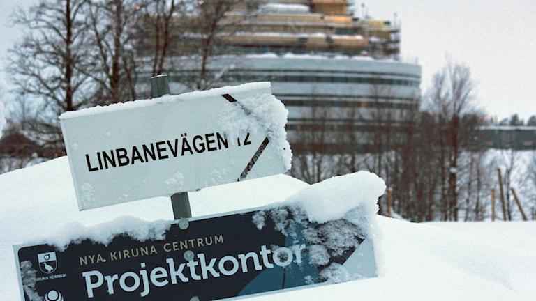 Bygget av nya Kiruna pågår.