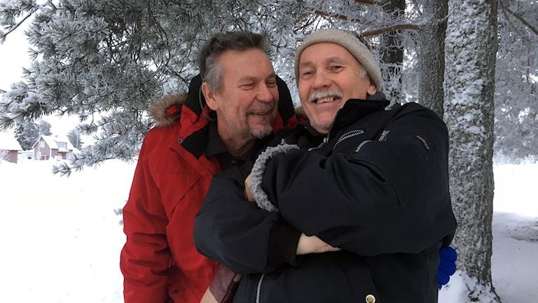 Hans Pella och Kjell Morin, revymakare i Sangis.