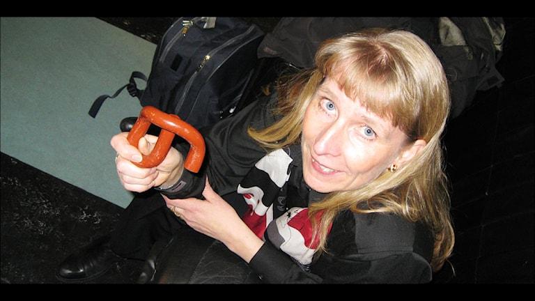 Elisabeth Sinclair, Norrbotniabanan. Foto: Stig-Arne Nordström/Sveriges Radio