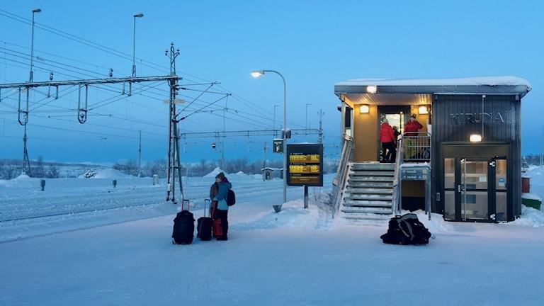 Tågstationen i Kiruna.