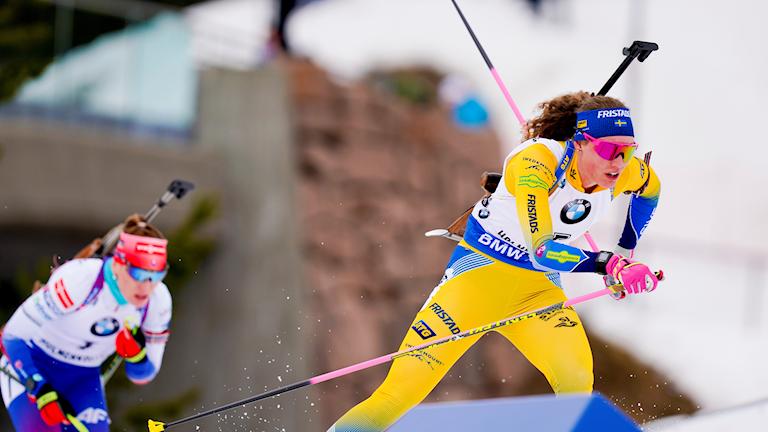 Hanna Öberg under tävling.