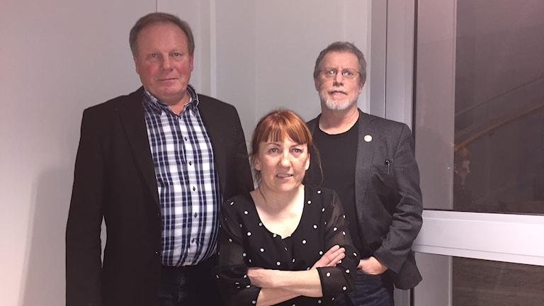 Bengt Niska, Maja Mella och Curt Persson.