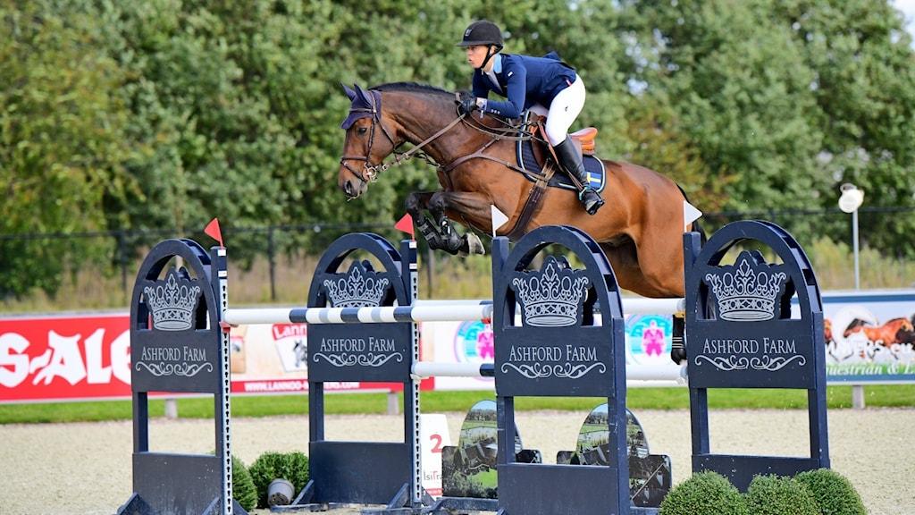 Wilma Marklund på hästen Carlogero