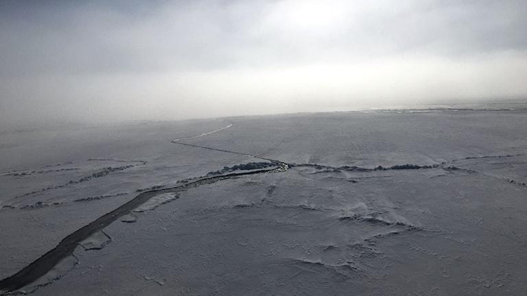 Arkivbild: isränna Bottenviken.