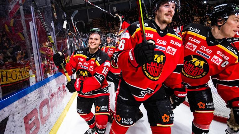 Luleåjubel efter segern mot Rögle.