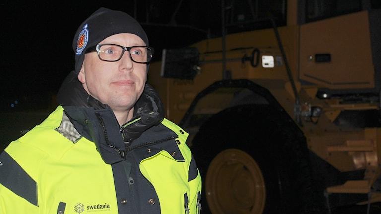 Andreas Fredriksson är flygplatschef i Kiruna.