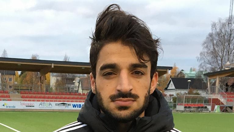 Arish Nouri gjorde Piteås mål i förlusten. FOTO: Emil Larrson/Sveriges Radio