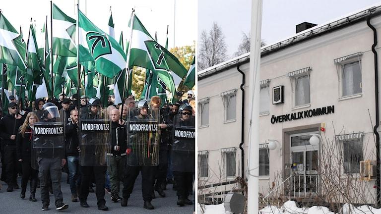 Nordiska motståndsrörelsen (NMR) demonstrerar i Göteborg och kommunhuset i Överkalix.