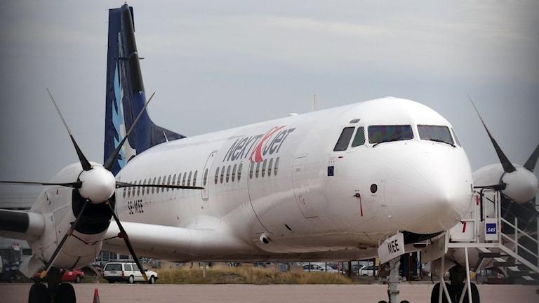 Ett flygplan från nextjet.