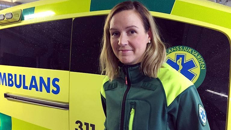 Anna-Karin Andersson, ambulanssjuksköterska.