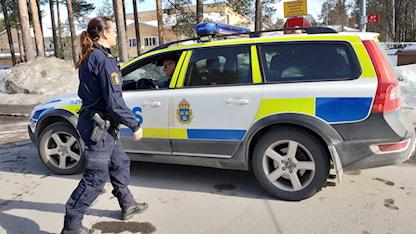 Polisbil i Luleå.