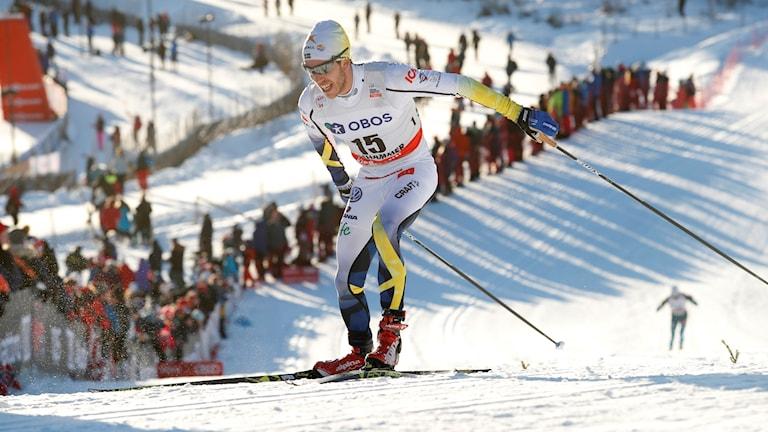 Arkivbild. Marcus Hellner från världscupen i Lillehammer.