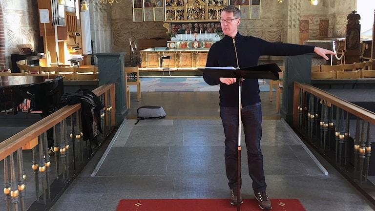 Johan Christensson, tenor, som är uppvuxen i Gammelstad.