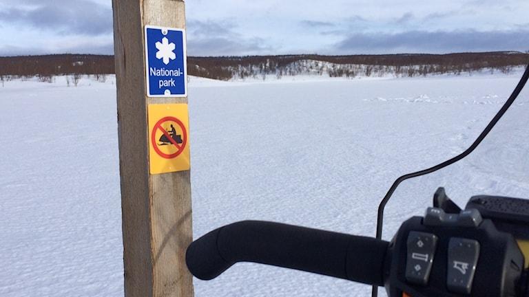 Snöskoter, förbudsområde