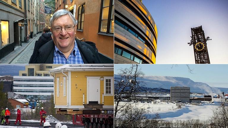 Gunnar Lassinantti, ABF Stockholm och Norrbottenskännare, Kiruna stadshus, ett hus som flyttat och Kirunagruvan.