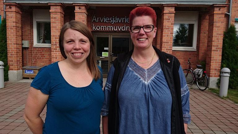 Lotta Åman och Britta Lundgren.
