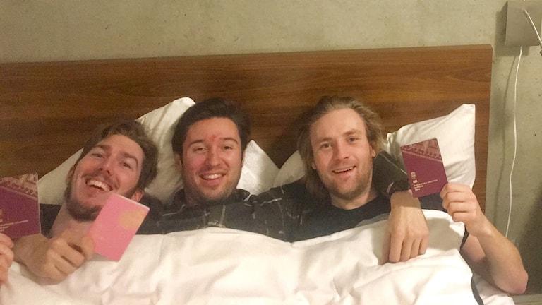 Anders Holma, Bernard Norberg, Oscar Stockfelt