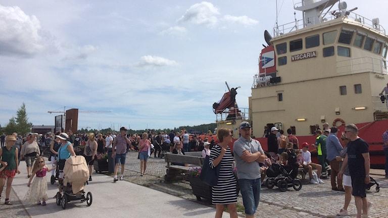 Många besökare lockades till Skärgårdens dag i Luleå.