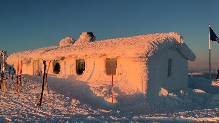 Åke på toppen (Dundret) i vinterskrud
