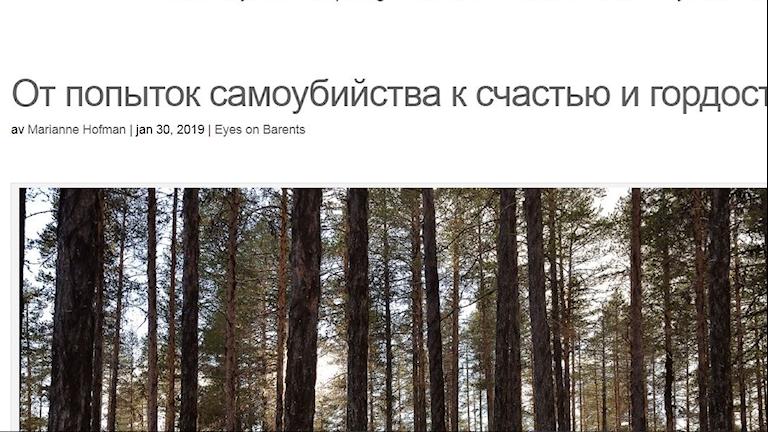 Arjeplognytts ansvariga utgivare Marianne Hofman beslutade sig för att publicera den ryska översättningen av artikeln.