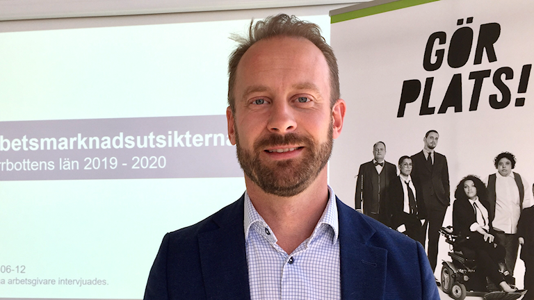 Daniel Nilsson, chef på arbetsförmedlingen i Luleå och Boden