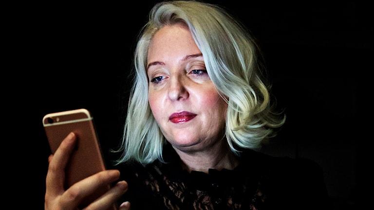 Bibbi Good från Arvidsjaur var först ut med att använda #metoo i Sverige via sin mobiltelefon.