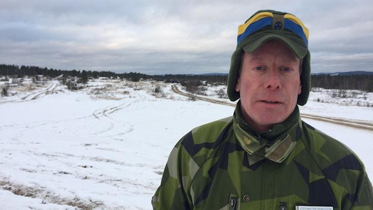 Stefan Fredriksson, ställföreträdande chef vid artilleriregementet i Boden.