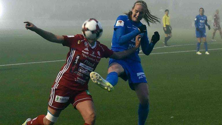 Piteå IF mot Eskilstuna United i damallsvenskan i fotboll.