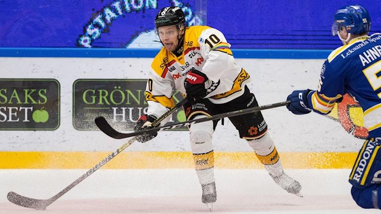 Einar Emanuelsson under ishockeymatchen i SHL mellan Leksand och Luleå den 15 februari 2020 i Leksand.