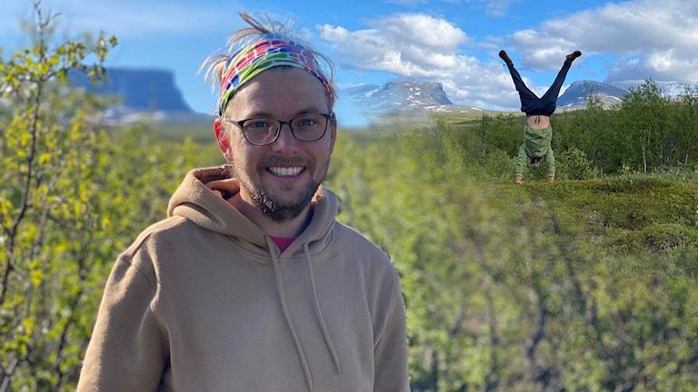 David Sjöström ska försöka slå världrekord genom att gå på 2,1 kilometer lång lina över Lapporten.