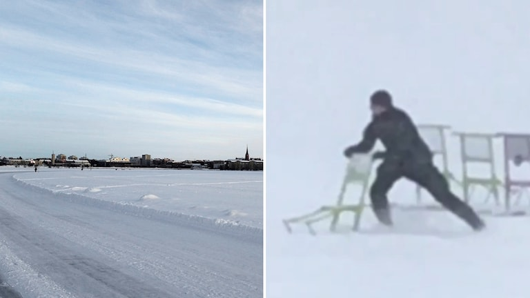 Polis rycker ut på spark i Norra hamn i Luleå
