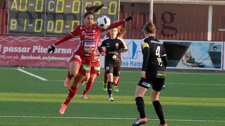 Tempest-Marie Norlin när hon spelade för Piteå IF.