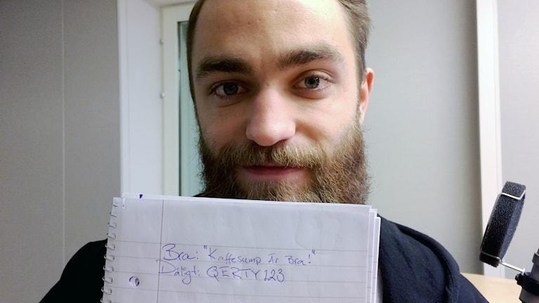 Martin Lundgren, doktorand i informationssystem med fokus på informationssäkerhet.