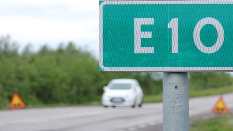 E10 i Kiruna.