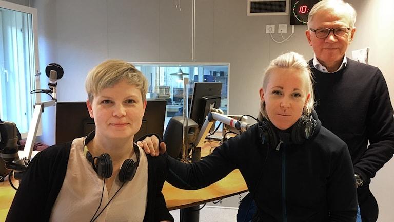 Lina Stoltz, Angelica Brage och Karl Petersen.