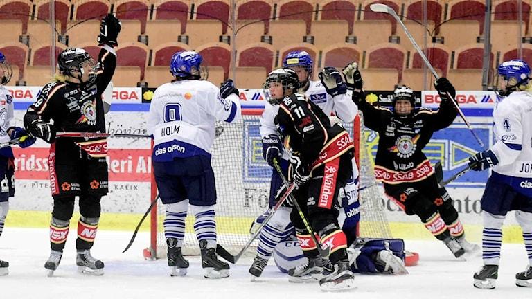 Luleå/MSSK tog under lördagen sin tionde raka seger. FOTO: Alf Lindbergh/Pressbilder