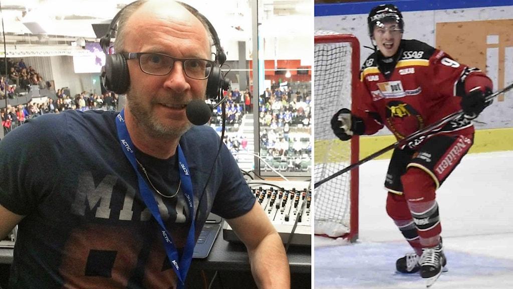 Radiosportens Peter Sundkvist och Luleå Hockeys Johan Forsberg.
