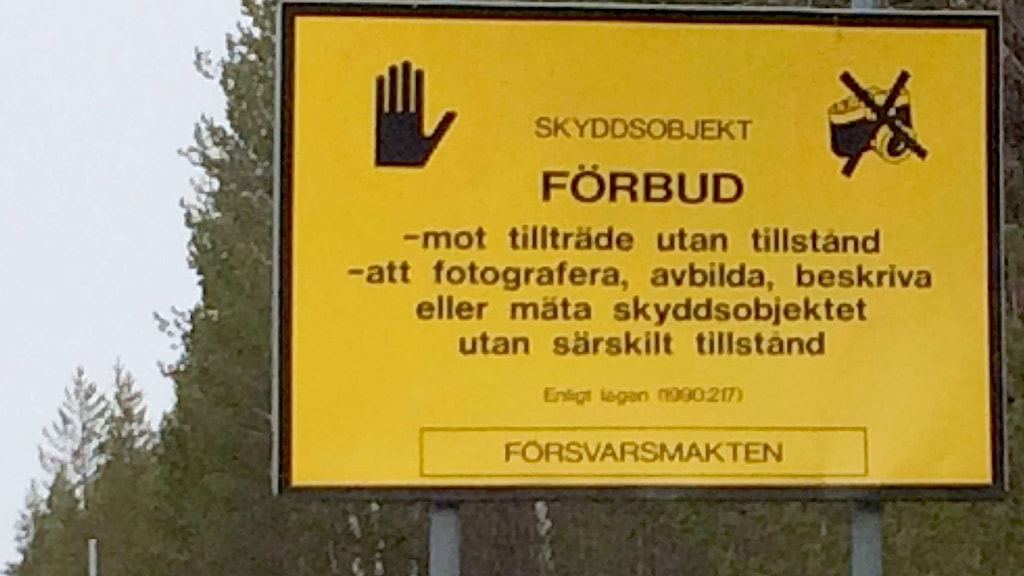 Redan ett par kilometer från provområdet i Vidsel råder det fotoförbud.