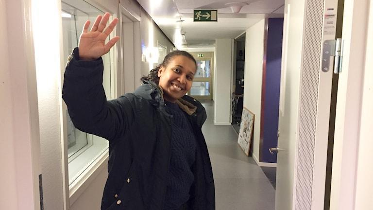 Lisa Lindström tackar för sig i Luleå.