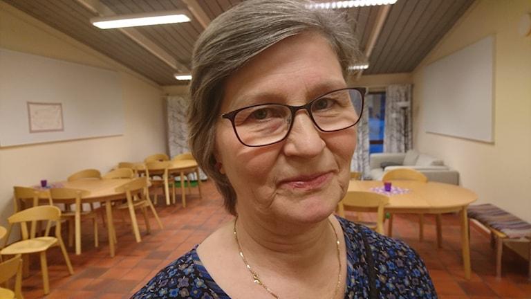 Närbild på Sonja Lundberg, församlingspedagog.